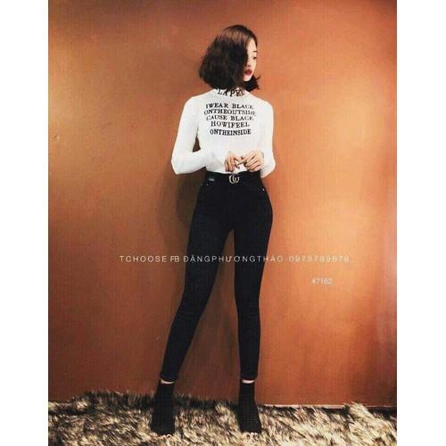 Quần jean nữ đen trơn