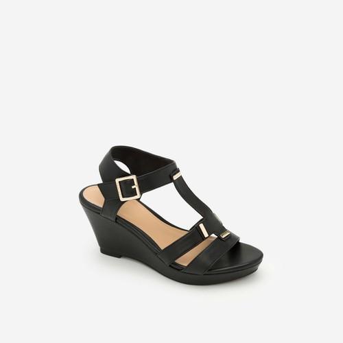Vascara - Giày Sandal Cao Đế Xuồng - Màu Đen - SDX 0402 sang trọng xinh xắn