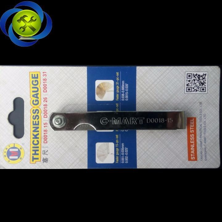 Thước lá đo khe C-Mart D0018-15 15 lá 0.05-0.63mm 3