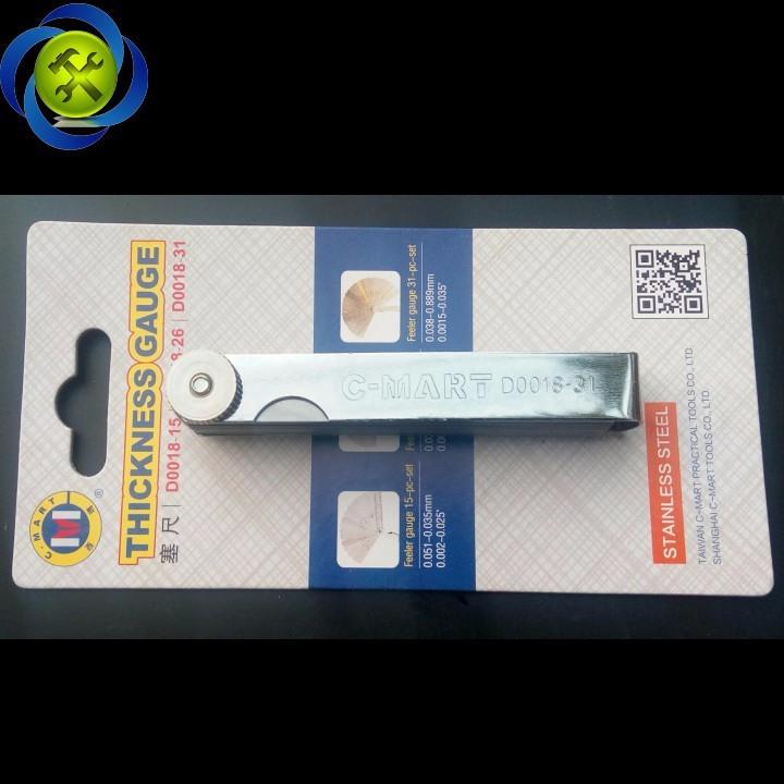 Thước lá đo khe C-Mart D0018-31 31 lá 0.04-0.88mm 2