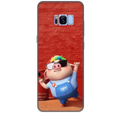 Ốp lưng nhựa dẻo dành cho Samsung Galaxy S8 Plus in Heo Con Sành Điệu