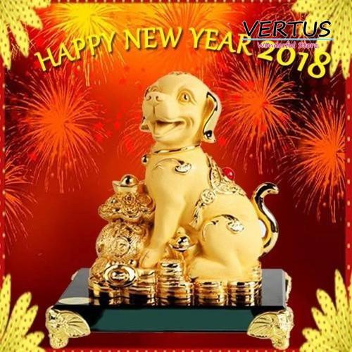 Chó trang trí vàng