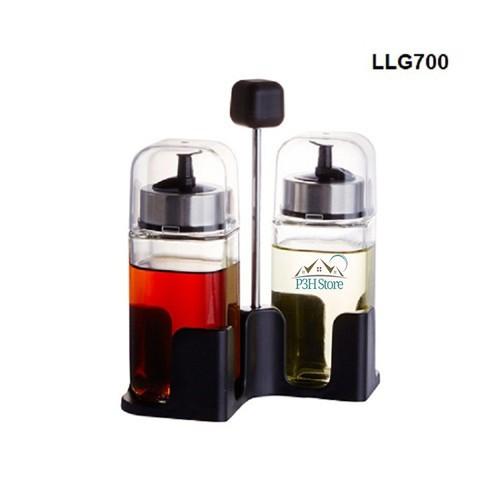 Bộ 2 hũ thủy tinh đựng dầu ăn kèm khay Lock&lock LLG700 - 10996042 , 14194849 , 15_14194849 , 240000 , Bo-2-hu-thuy-tinh-dung-dau-an-kem-khay-Locklock-LLG700-15_14194849 , sendo.vn , Bộ 2 hũ thủy tinh đựng dầu ăn kèm khay Lock&lock LLG700