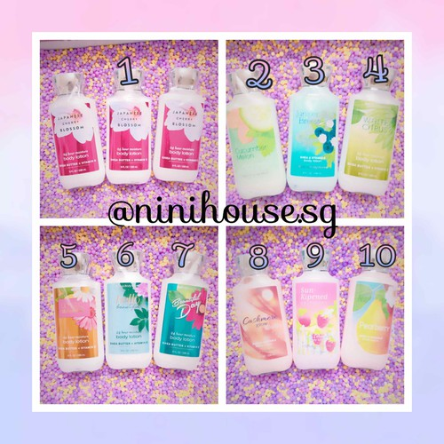 Dưỡng thể body lotion Bath and Body Works