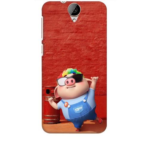 Ốp lưng nhựa dẻo dành cho HTC One E9 in Heo Con Sành Điệu