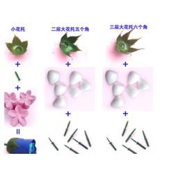 set nguyên liệu làm hoa sáp 20 bông