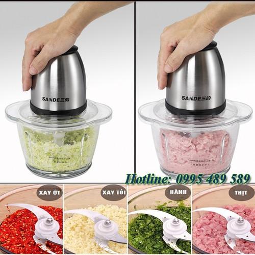 Máy xay thực phẩm đa năng 2 tốc độ 2 lưỡi kép - 4660145 , 14193437 , 15_14193437 , 550000 , May-xay-thuc-pham-da-nang-2-toc-do-2-luoi-kep-15_14193437 , sendo.vn , Máy xay thực phẩm đa năng 2 tốc độ 2 lưỡi kép