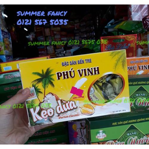 250g Kẹo dừa Phú Vinh  đặc sản bến tre vị sầu riêng - Durian coconut candy - 4660922 , 14198482 , 15_14198482 , 40000 , 250g-Keo-dua-Phu-Vinh-dac-san-ben-tre-vi-sau-rieng-Durian-coconut-candy-15_14198482 , sendo.vn , 250g Kẹo dừa Phú Vinh  đặc sản bến tre vị sầu riêng - Durian coconut candy
