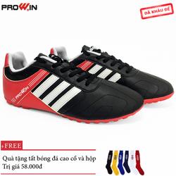 Giày Đá Bóng Prowin FM781 3 sọc đen - Tặng kèm tất bóng đá cao cổ
