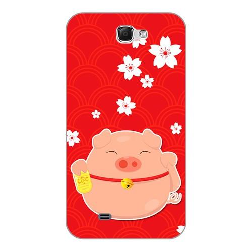 Ốp lưng điện thoại samsung galaxy note 2 - cute pig 02