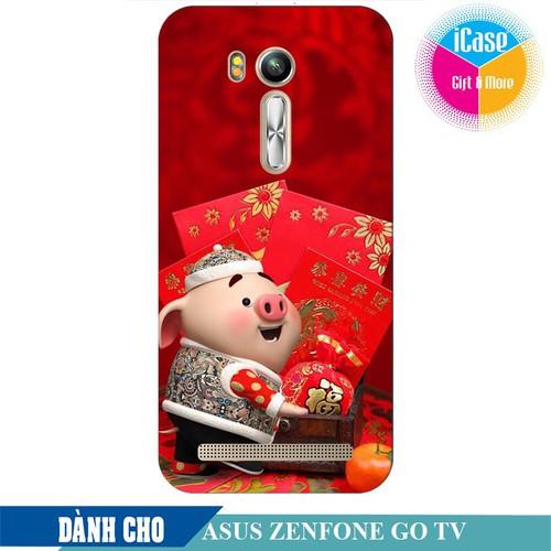 Ốp lưng nhựa dẻo dành cho ASUS ZenFone Go TV ZB551KL in hình Heo Con Mừng Tuổi