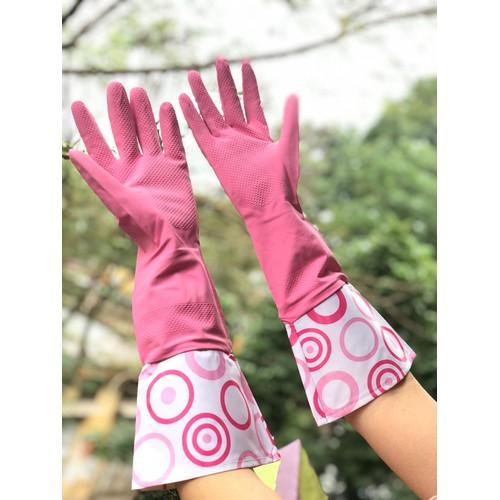 COMBO: 02 Găng tay rửa bát cổ dài Nhật Bản