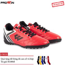 Giày Đá Bóng Prowin FX Đỏ - Tặng kèm tất bóng đá cao cổ