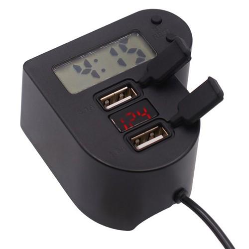 Sạc điện thoại kiêm đồng hồ gắn ghi Đông xe máy có đèn LED hiển thị điện áp - 11000782 , 14205120 , 15_14205120 , 198000 , Sac-dien-thoai-kiem-dong-ho-gan-ghi-Dong-xe-may-co-den-LED-hien-thi-dien-ap-15_14205120 , sendo.vn , Sạc điện thoại kiêm đồng hồ gắn ghi Đông xe máy có đèn LED hiển thị điện áp
