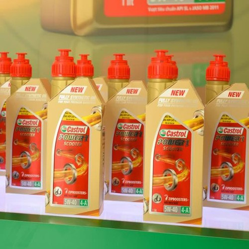 nhớt xe tay ga castrol power1 scooter