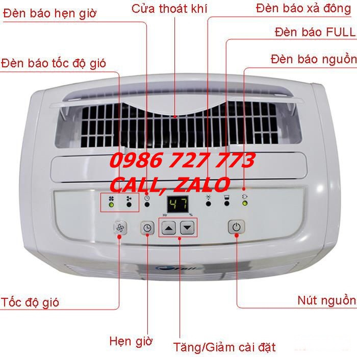 Máy hút ẩm Fujie HM-620EB,máy hút ẩm cho gia đình, máy hút ẩm 20 lít cho phòng 30m2