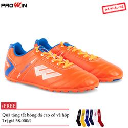 Giày Đá Bóng Prowin S50 Cam - Tặng kèm tất bóng đá cao cổ