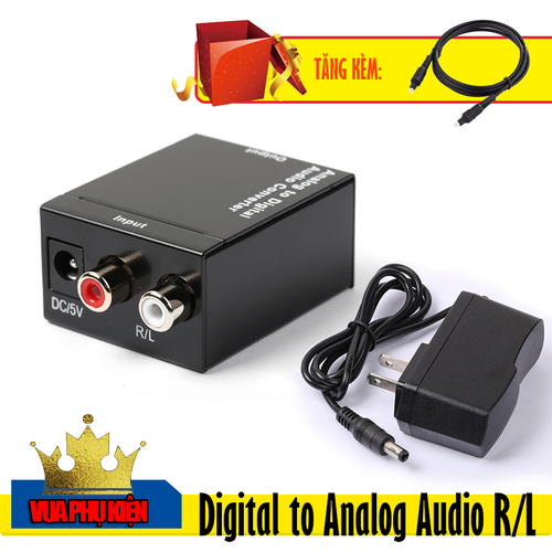 Bộ chuyển đổi Optical Audio to RCA Audio Tặng kèm Cáp Quang