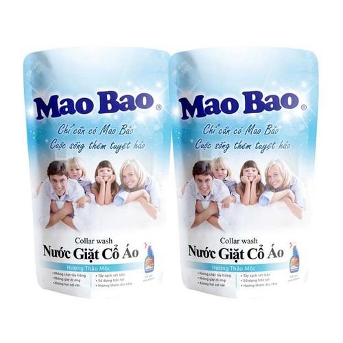 Combo 2 Túi Nước Giặt Cổ Áo Mao Bao Hương Thảo Mộc 600ml x 2