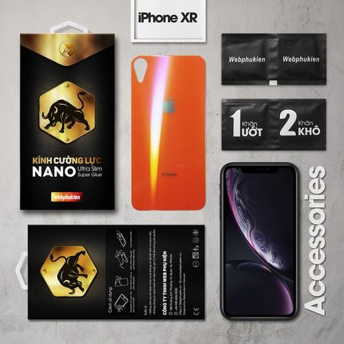 Kính cường lực iPhone-XR mặt sau Full Webphukien cam