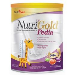 sữa bột nhập khẩu Nutrigold pedia 900g sữa tăng chiều cao tăng cân bé