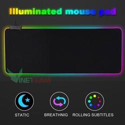 Bàn Di Chuột Led RGB, Pad RGB Cực Hot 800x300x4 MM