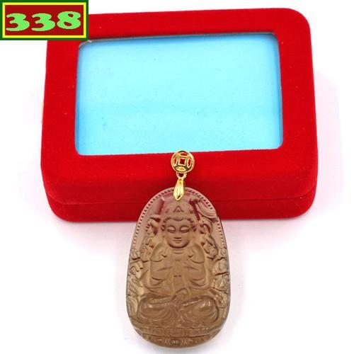 Mặt dây chuyền Quan Âm Nghìn Tay Nghìn Mắt Obsidian 5 cm kèm hộp nhung MBNN8 - Phật bản mệnh tuổi Tý
