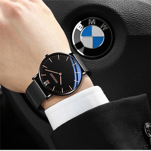 Đồng hồ nam DIZIZID dây thép lụa mặt siêu mỏng thiết kế tinh tế sang trọng lịch lãm mẫu hot nhất hiện nay