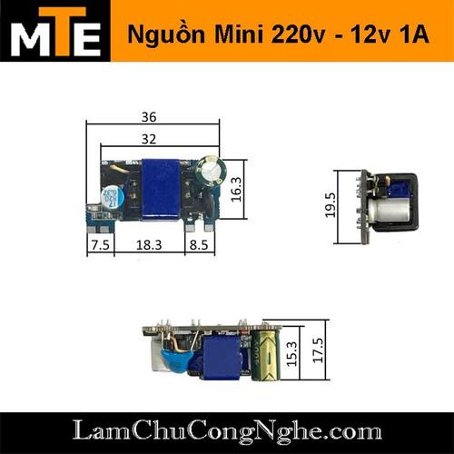 Module nguồn hạ áp mini 220V – 12V 1A một hàng chân - 10430238 , 16018471 , 15_16018471 , 50000 , Module-nguon-ha-ap-mini-220V-12V-1A-mot-hang-chan-15_16018471 , sendo.vn , Module nguồn hạ áp mini 220V – 12V 1A một hàng chân