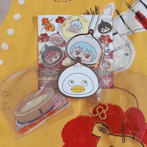 Gintama - Móc khóa Elizabeth ver bánh bao kèm bọc bảo vệ
