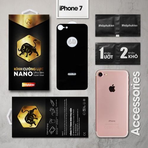 Kính cường lực iPhone-7 mặt sau Full Webphukien đen