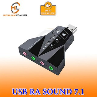 Cáp USB ra Sound 3D Virtual 7.1 Phi Thuyền 4 Cổng - LKLT031 thumbnail