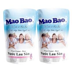 Nước Lau Sàn Mao Bao Hương Hoa Hồng 600ml x 2 túi