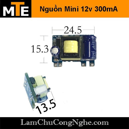 Module Nguồn Hạ Áp Mini 220V -12v 300mA 1 Hàng Chân - 11218386 , 16018435 , 15_16018435 , 28000 , Module-Nguon-Ha-Ap-Mini-220V-12v-300mA-1-Hang-Chan-15_16018435 , sendo.vn , Module Nguồn Hạ Áp Mini 220V -12v 300mA 1 Hàng Chân