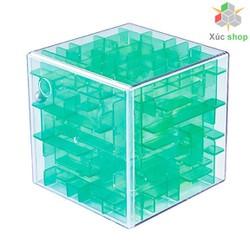 Rubik mê cung - Tìm lối thoát cho viên bi - Xanh lá trong suốt