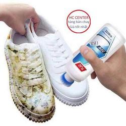 Chai xịt trắng giầy dép túi xách Plac