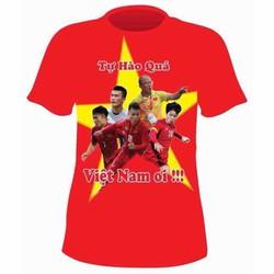 Áo thun nam Áo đỏ sao vàng Áo bóng đá Áo in hình đội tuyển Việt Nam áo cờ đỏ sao vàng Áo thể thao nam
