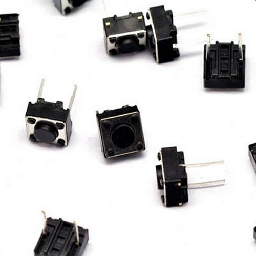 4 Chiếc Tactile Push Button Switch 6x6x4.3mm Momentary DIP Self-Reset 2pin