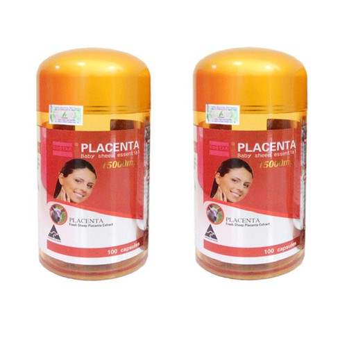 Combo 2 Viên nhau thai cừu Placenta Baby Sheep Essential Costar 15000mg