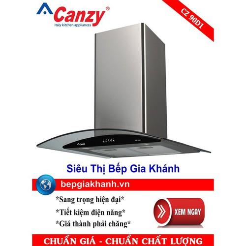 Máy hút mùi nhà bếp dạng kính cong 90cm Canzy CZ 90D1