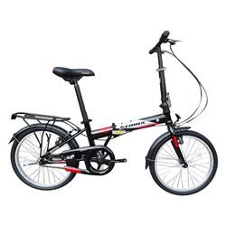 Xe đạp gấp LIFE 1.0 2018 Black Grey Red