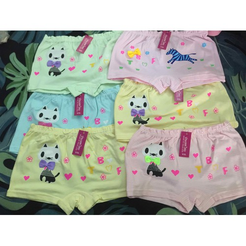 [Giá sập sàn] Set 10 quần đùi Thái Lan cao cấp cho bé gái [FREE SHIP]