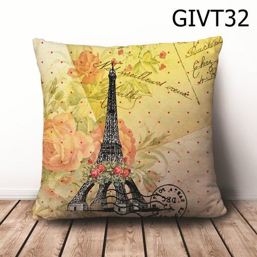 Gối vuông Tháp Eiffel GVHT32