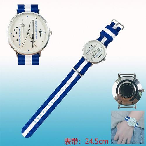 Đồng hồ đeo tay thời trang hình Sword Art Online SAO Anime wristwatch