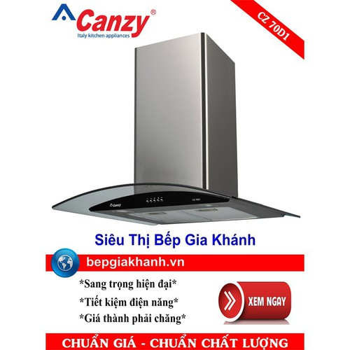 Máy hút mùi nhà bếp dạng kính cong 70cm Canzy CZ 70D1