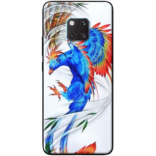 Ốp lưng nhựa dẻo Huawei_Mate_20_Pro Phượng hoàng xanh