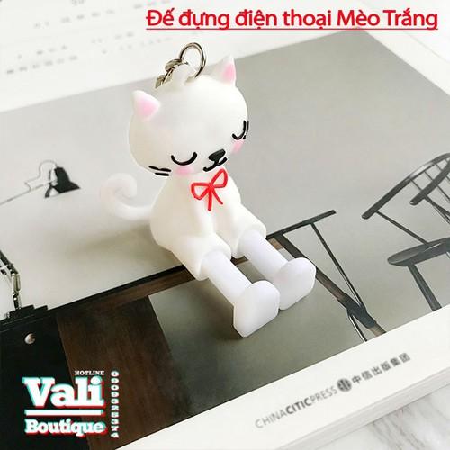 Đế đỡ điện thoại hình thú ngộ nghĩnh - Mèo trắng