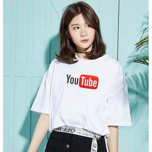 Áo thun tay lỡ, áo tay lỡ unisex in hình youtube thời trang Everest ATLK590