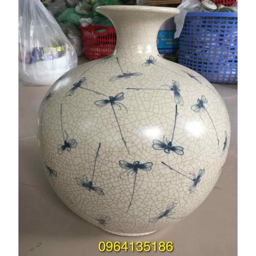 Bình hút tài lộc men rạn vẽ chuồn kim gốm sứ Bát Tràng - 11005915 , 14217733 , 15_14217733 , 850000 , Binh-hut-tai-loc-men-ran-ve-chuon-kim-gom-su-Bat-Trang-15_14217733 , sendo.vn , Bình hút tài lộc men rạn vẽ chuồn kim gốm sứ Bát Tràng