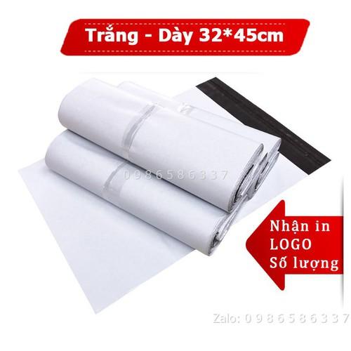 [TRẮNG-DÀY]Túi đóng hàng dán miệng niêm phong chống bóc size 32x45cm